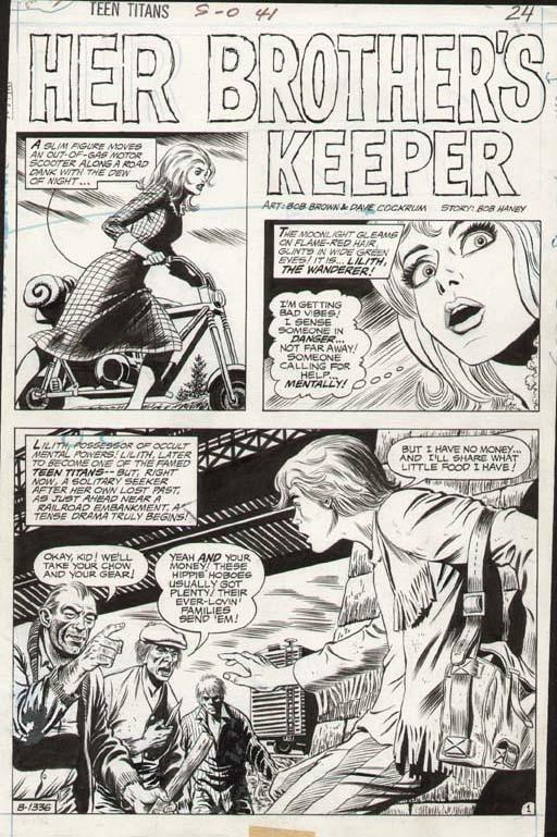 Teen Titans #41 p 1 SPLASH (1972)