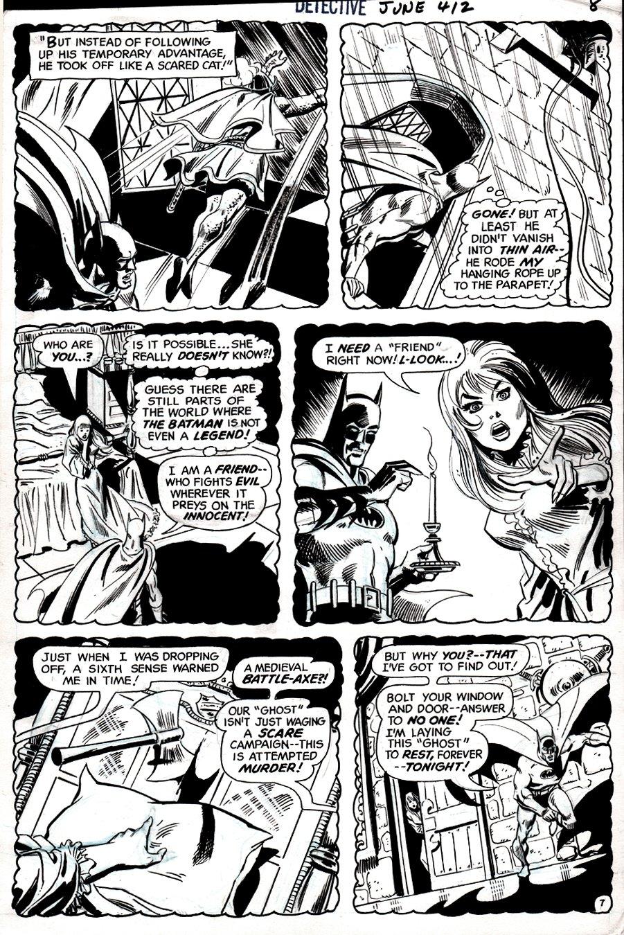 Detective Comics #412 p 7 (Batman In 5 Of 6 Panels!) 1971