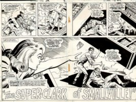 Superboy Issue 173 Page 2-3 DOUBLE SPREAD (1970) Comic Art