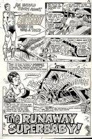 Superboy #189 p 1 SPLASH (1972) Comic Art