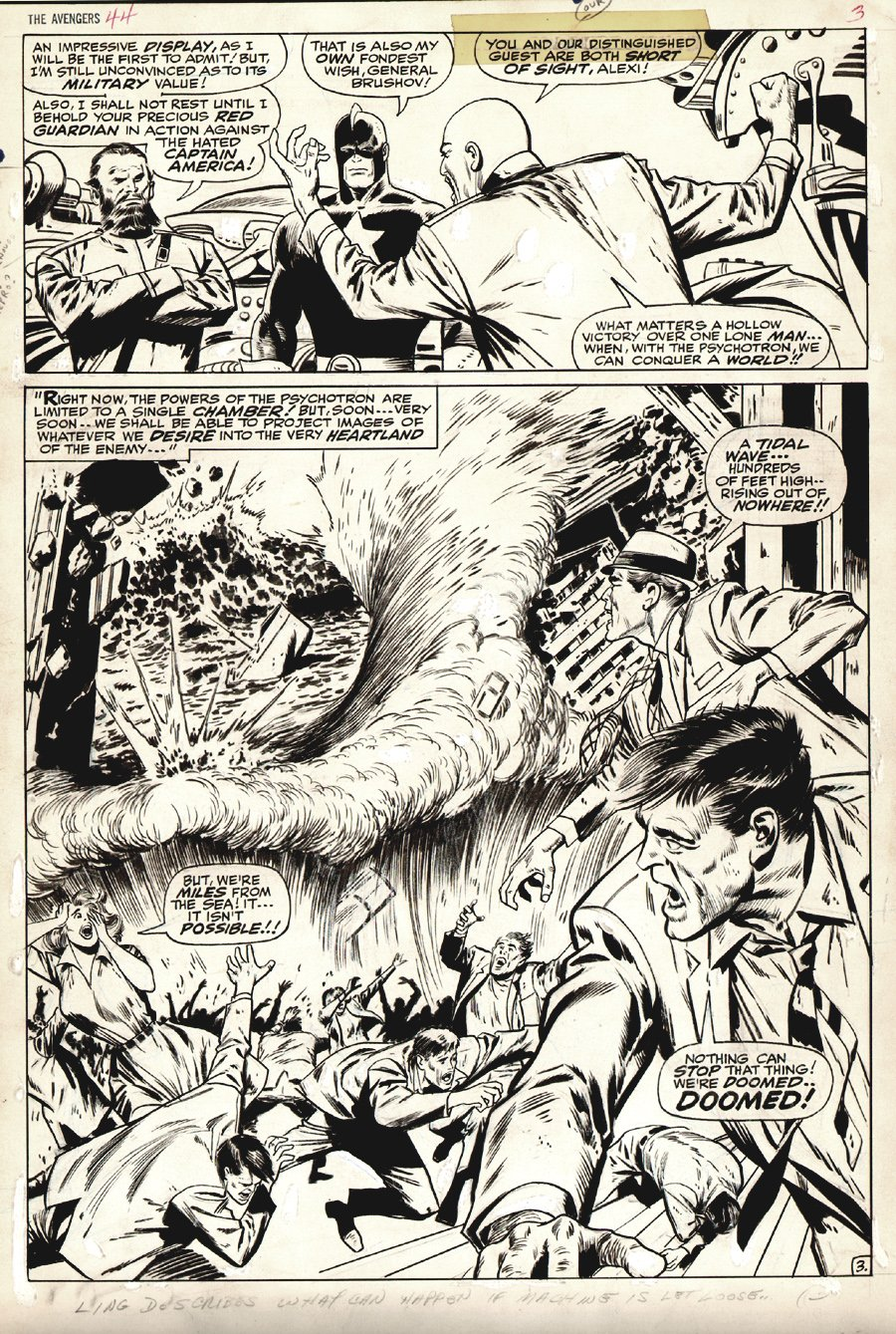 Avengers #44 p 3 SPLASH (Large Art) 1967