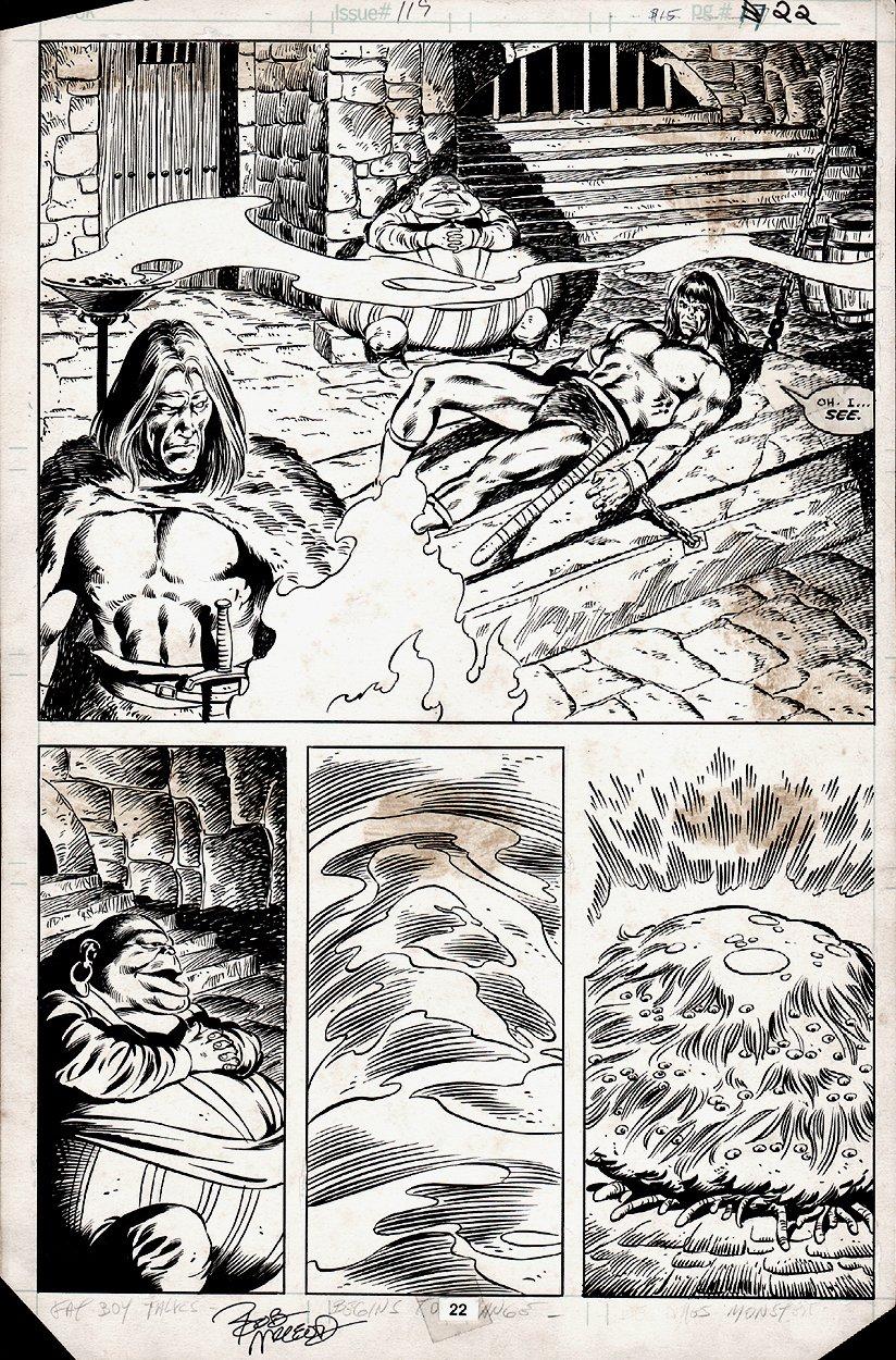 Conan the Barbarian #119 p 22 SEMI-SPLASH (1980)