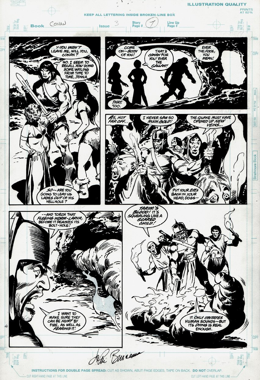 Conan: Death Covered in Gold #3 p 7 (1999)