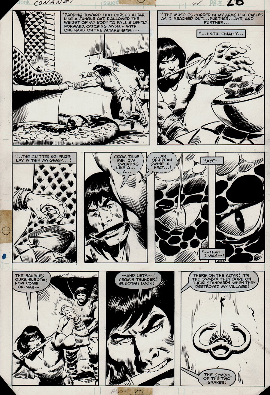 Conan Movie Special #1 p 28 (Marvel Super Special #21 Also)  1982