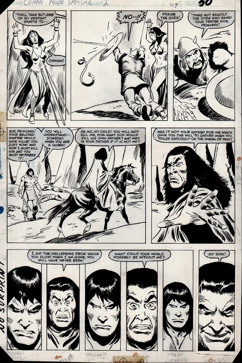 Conan Movie Special #2 p 30 (Marvel Super Special #21 Also)  1982