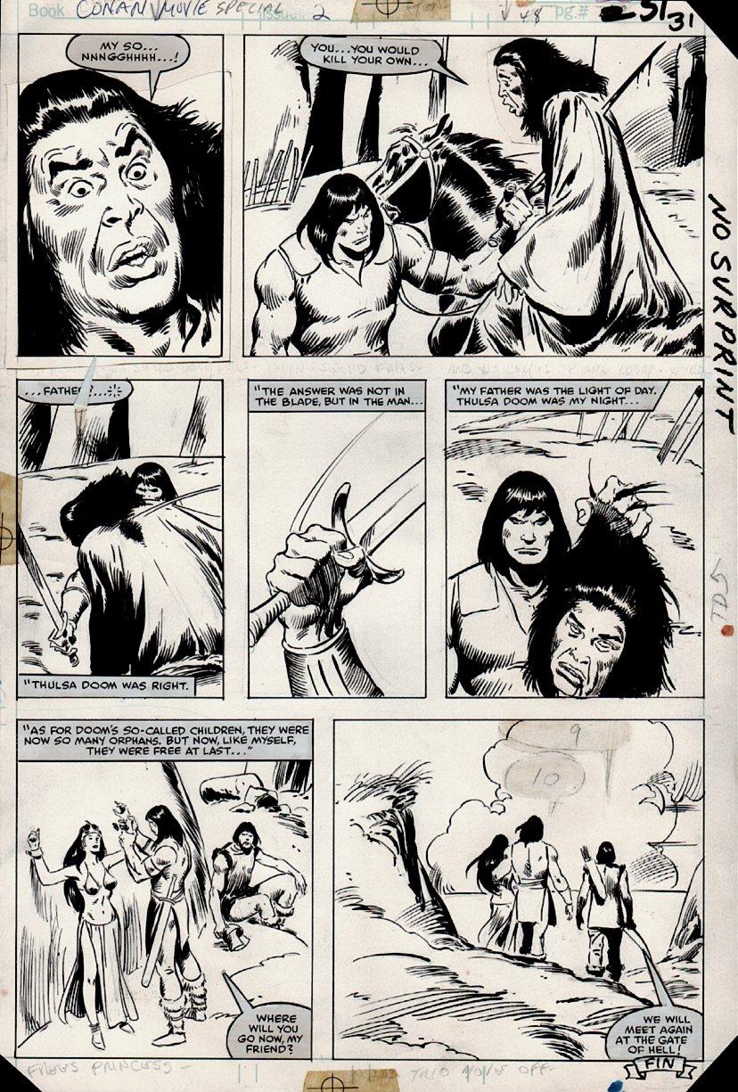 Conan Movie Special #2 p 31 (Marvel Super Special #21 Also)  1982