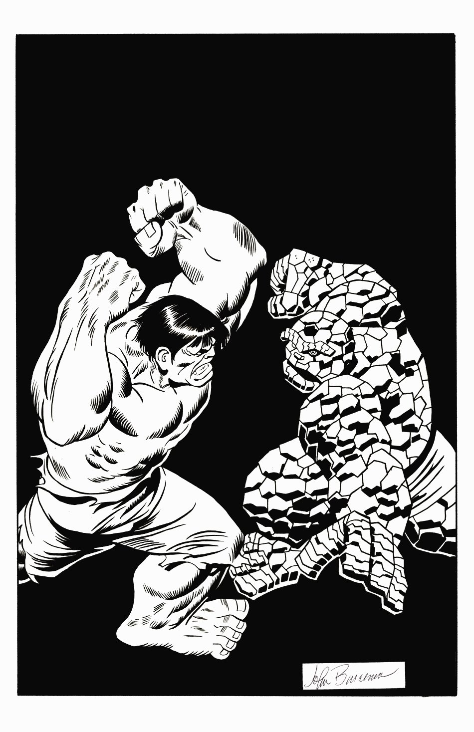 Fantastic Four #112 Cover Recreation (1990s)