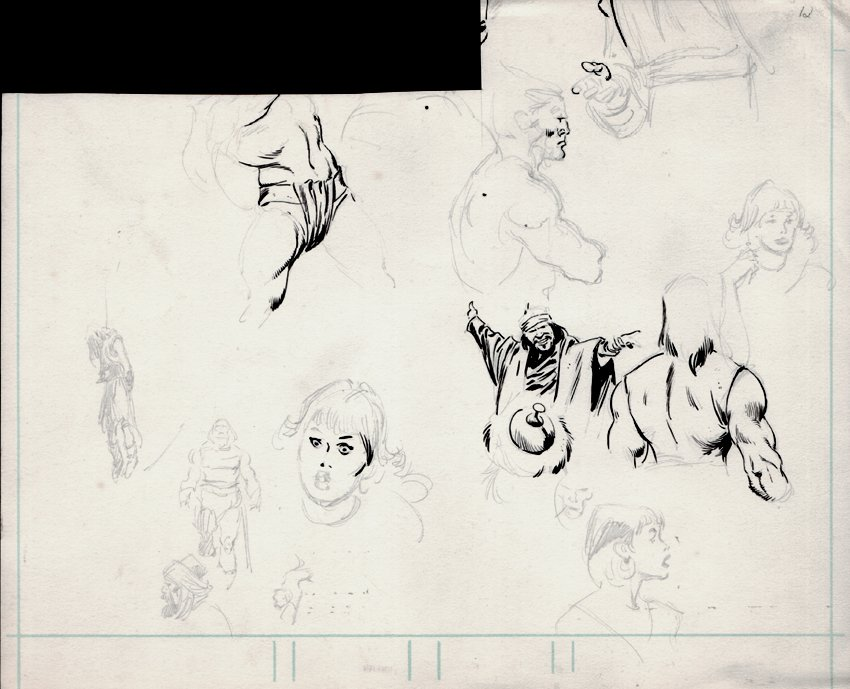 Many Sketches On Art Board Front & Back