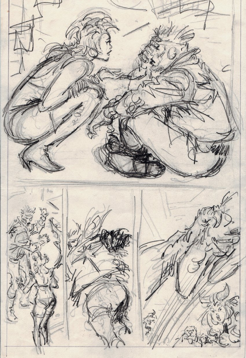 Silver Surfer 11 by 16 Inch Pencil Prelim Page