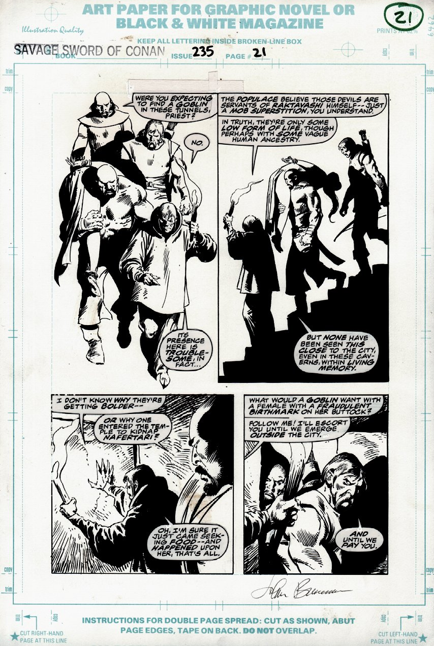 Savage Sword of Conan #235 p 21 (VERY LAST ISSUE) 1995