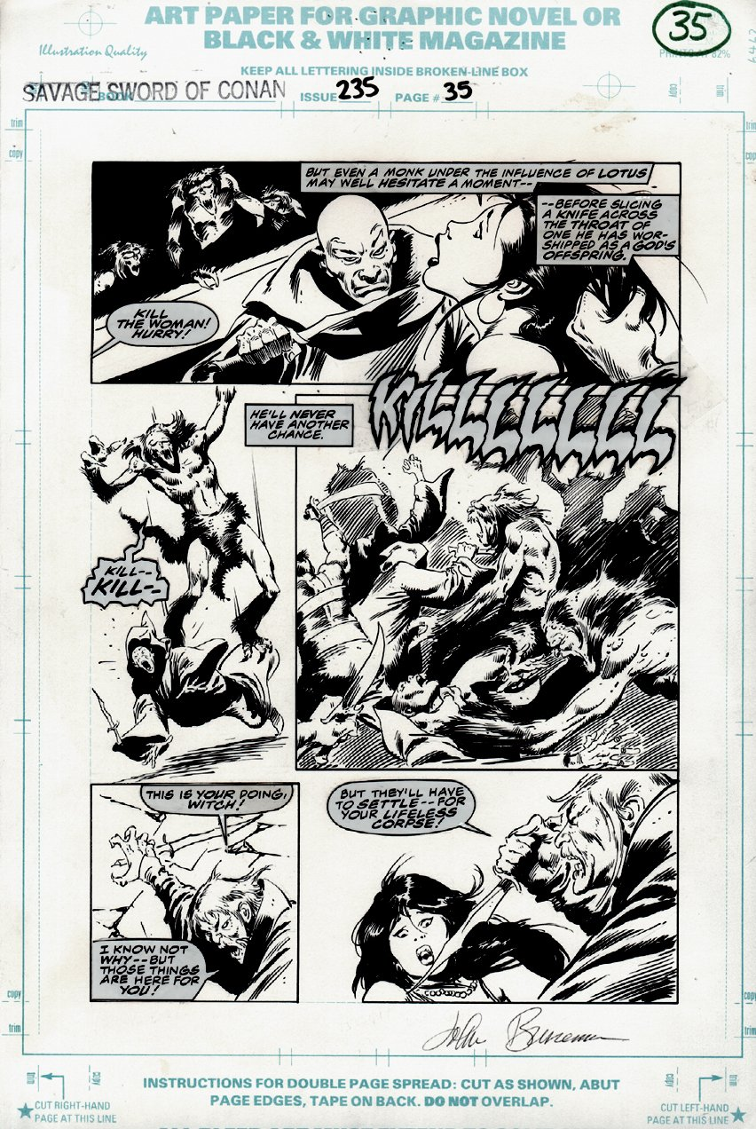 Savage Sword of Conan #235 p 35 (VERY LAST ISSUE) 1995