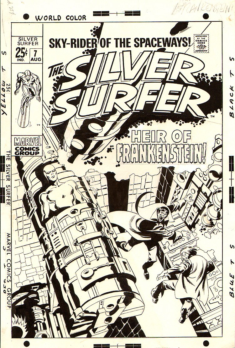 Silver Surfer #7 Un-Used Cover (1969)