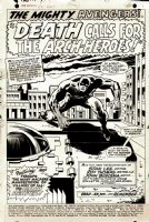 Avengers #52 p 1 SPLASH (1968) Comic Art