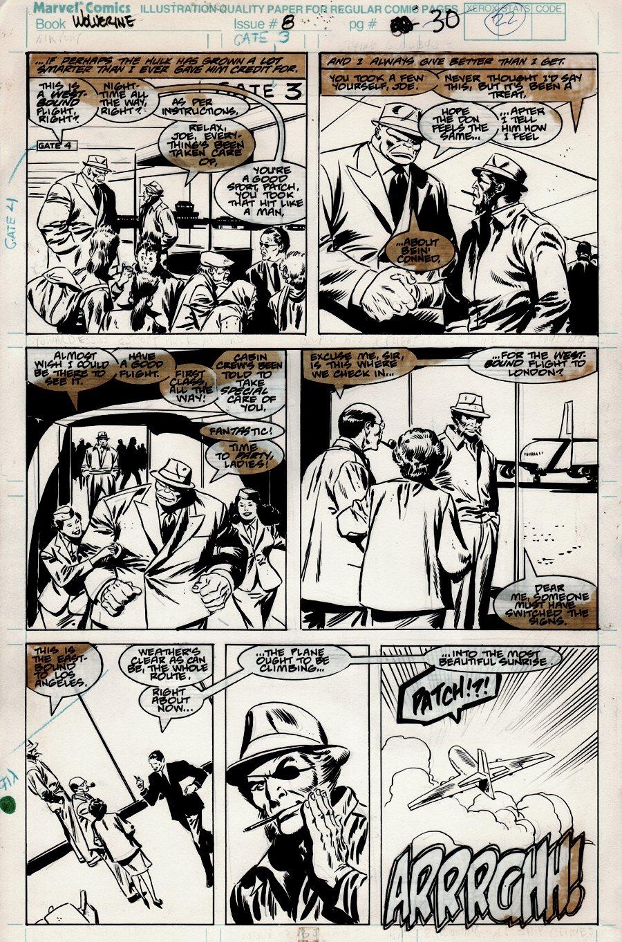 Wolverine #8 p 22 (Wolverine Tricks THE HULK) 1989