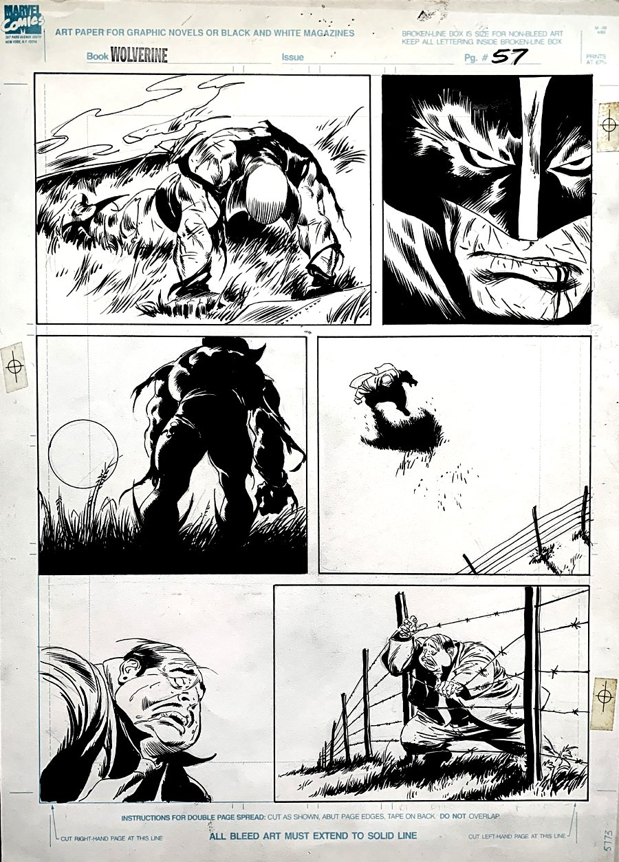 Wolverine: Bloody Choices Graphic Novel p 57 (LARGE ART HISTORIC PAGE!) 1991