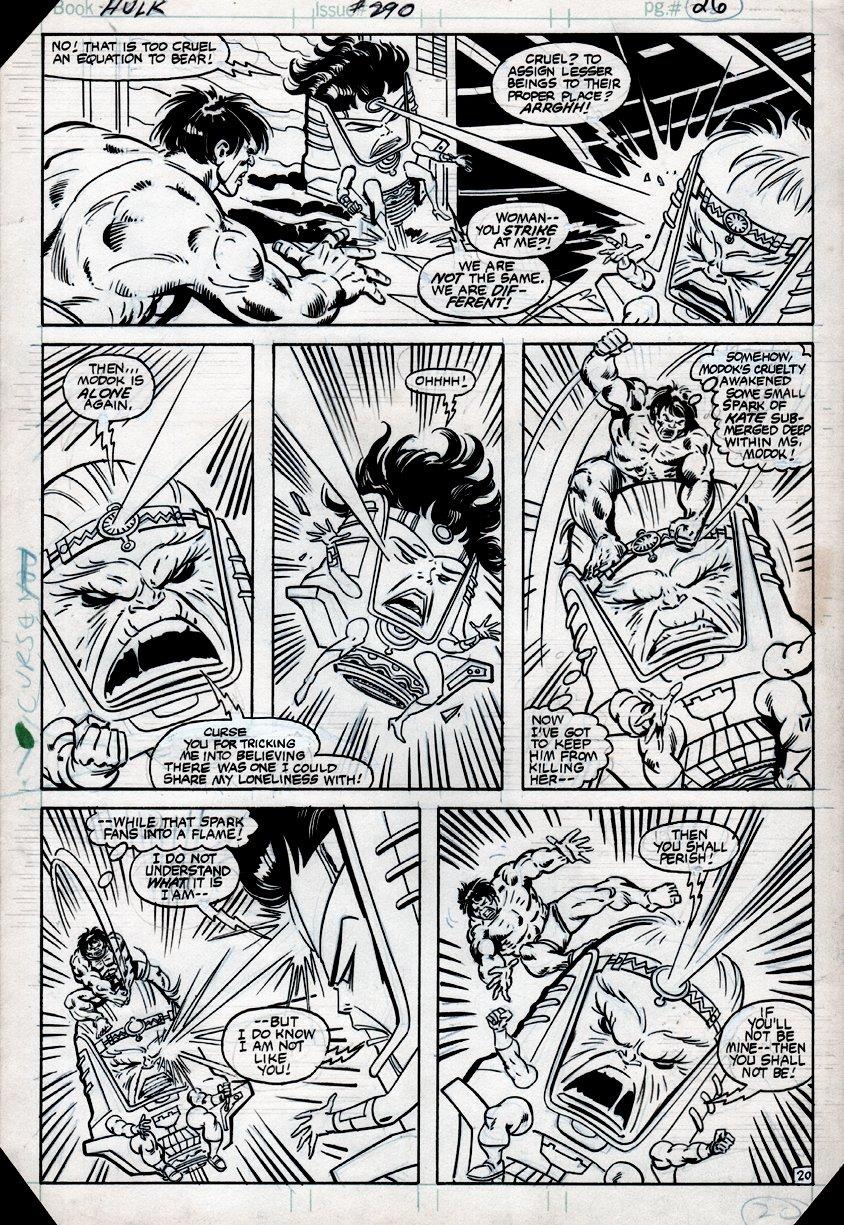 Incredible Hulk #290 p 20 (HULK BATTLES MODOK & MS. MODOK!) 1983