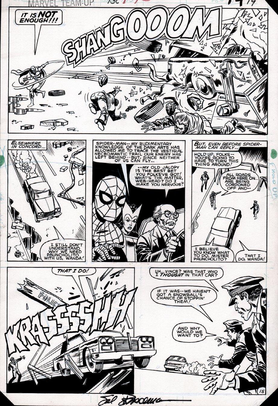 Marvel Team-Up #130 p 15 (Spider-Man, Vision, Scarlet Witch!) 1983