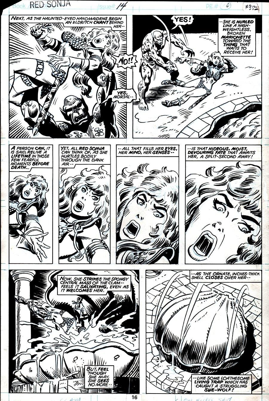 Red Sonja #14 p 16 (RED SONJA BATTLING IN 6 OF 7 PANELS!) 1978