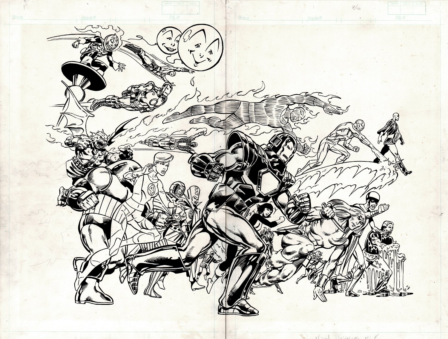 The Official Handbook of the Marvel Universe #6 Wraparound Double Cover (1986)