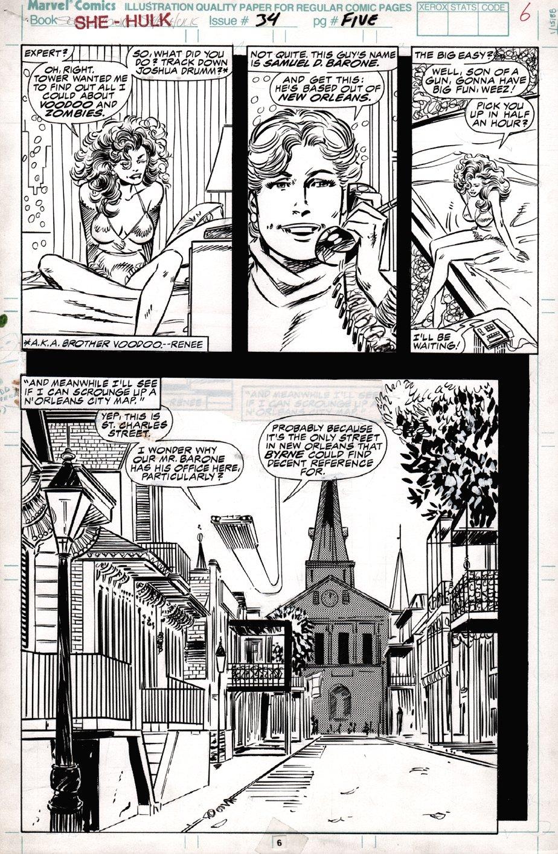Sensational She-Hulk #34 p 6 Semi-Splash (1991)