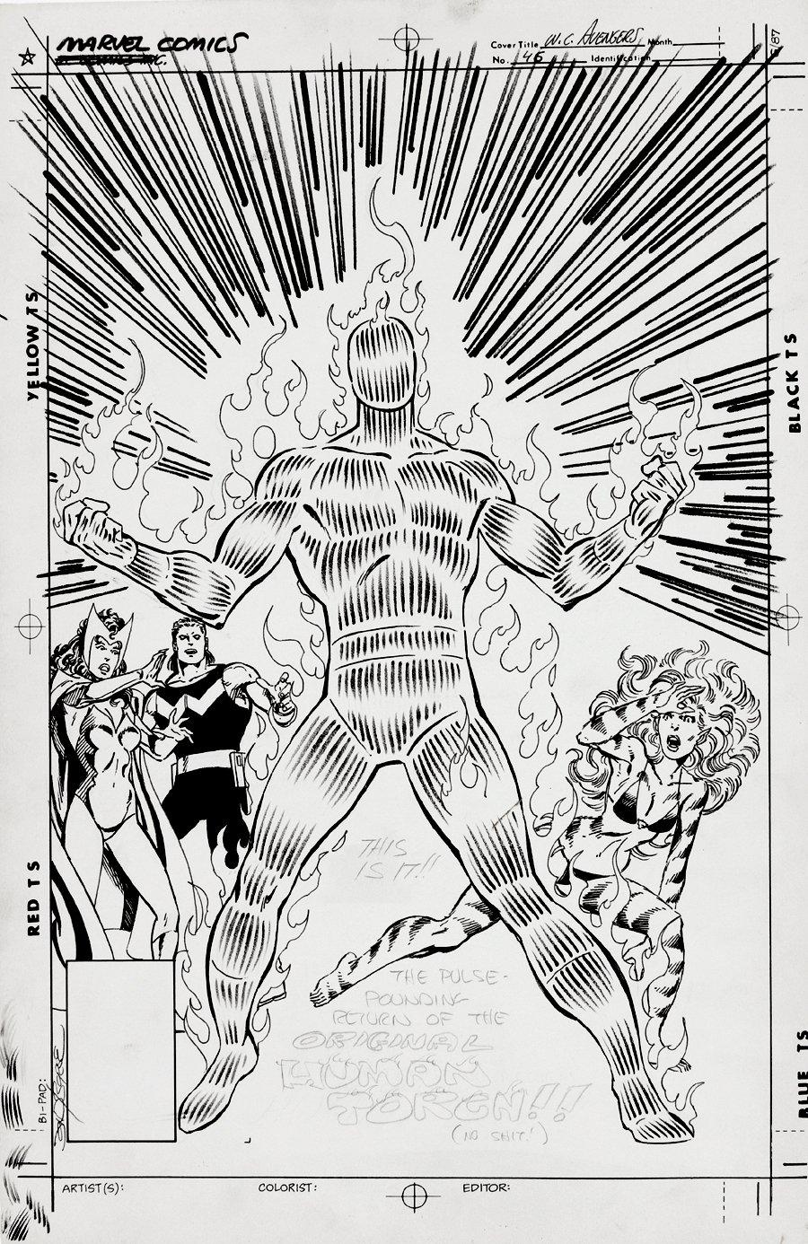 Avengers West Coast #50 Unpublished Cover (1989)