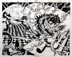Atomic Clones 2 Unpublished Wraparound Cover (1990) Comic Art