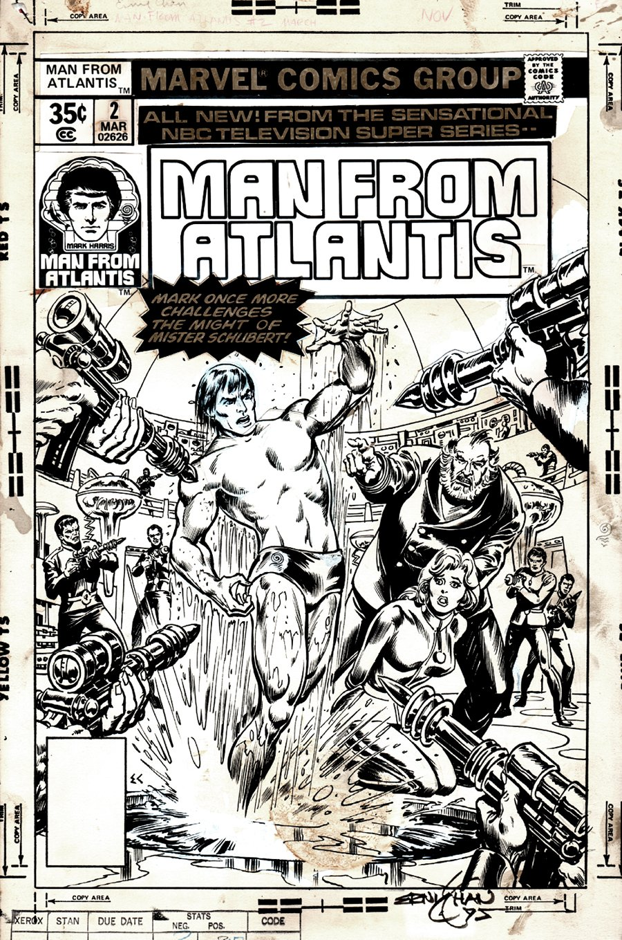 Man from Atlantis #2 Cover (1977)