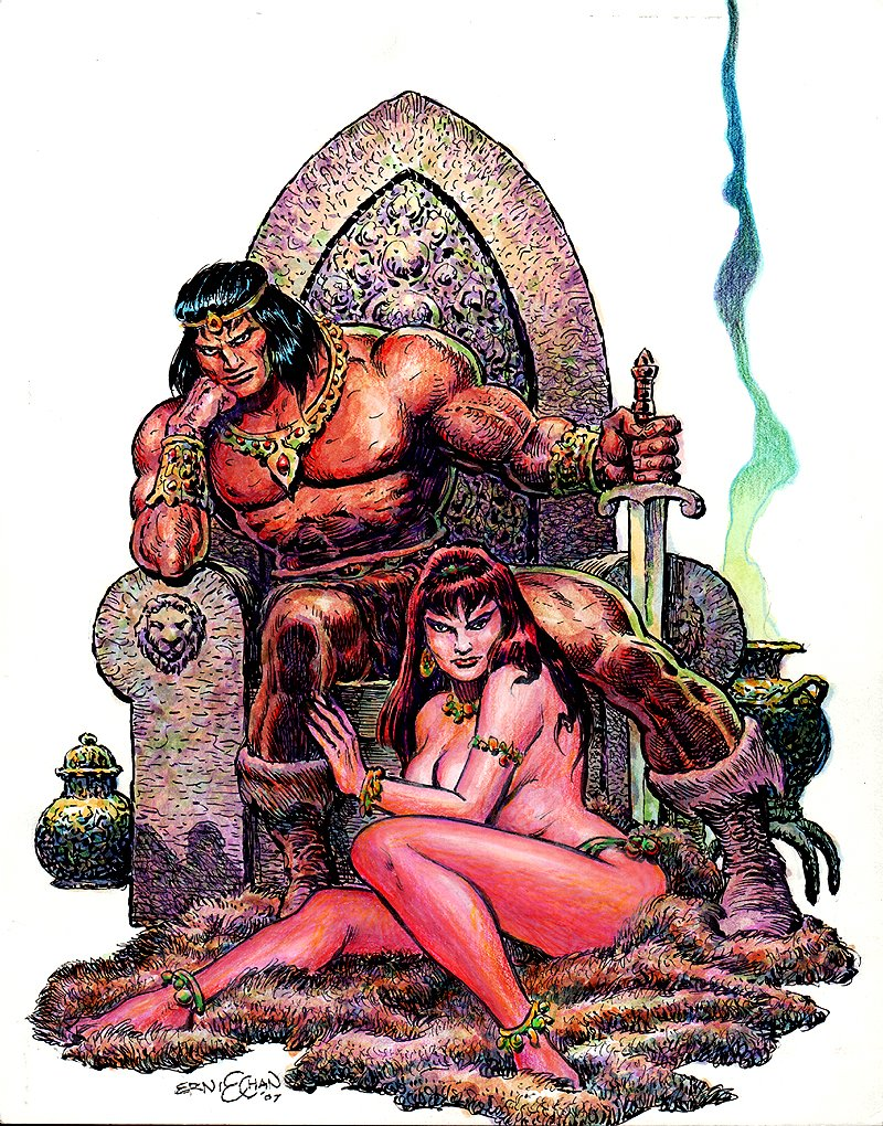 Conan / Babe Hand Colored Pinup (2007)