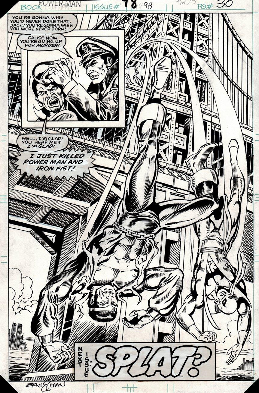 Power Man and Iron Fist #98 p 30 SPLASH (1983)