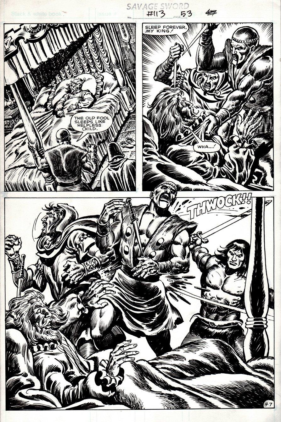 Savage Sword of Conan #113 p 47  2/3 SPLASH (1985)
