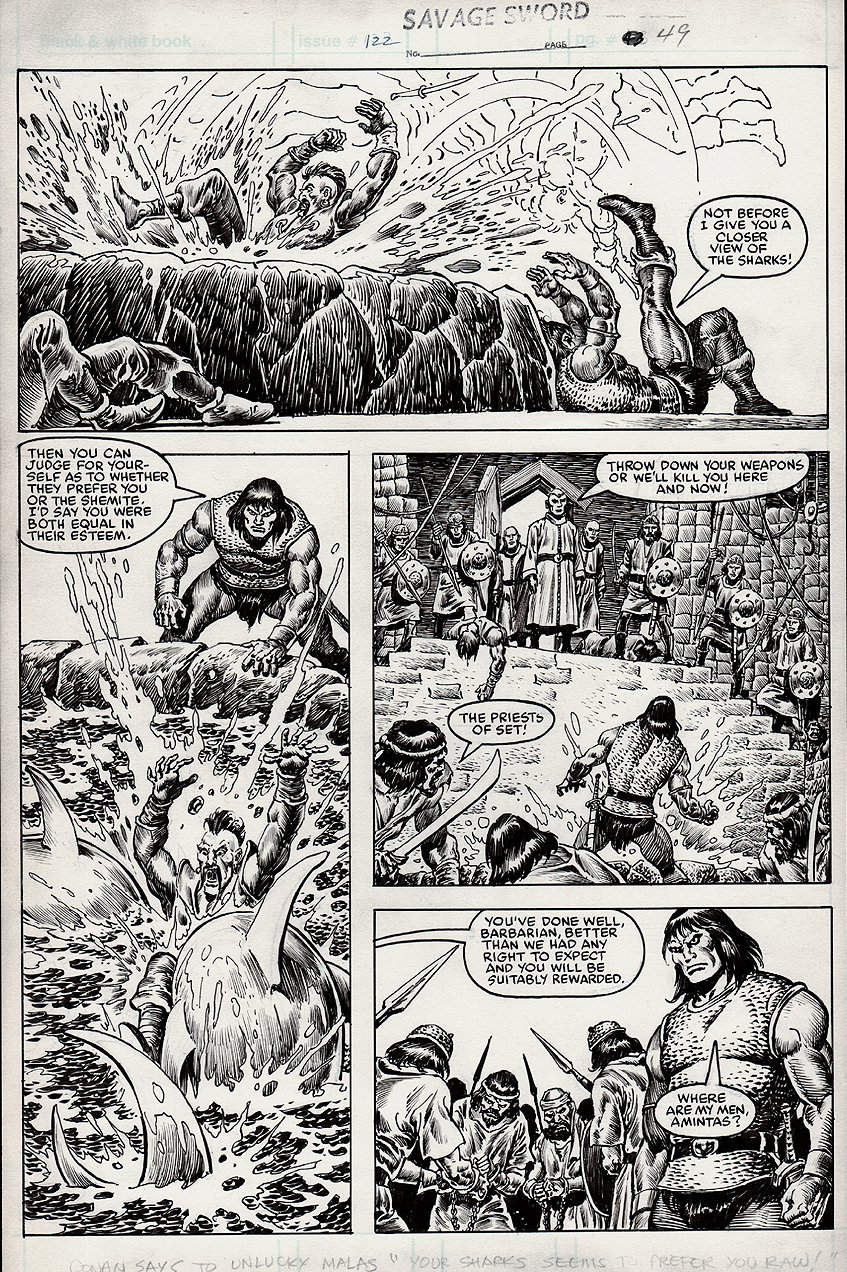 Savage Sword of Conan #122 p 49 (1985)