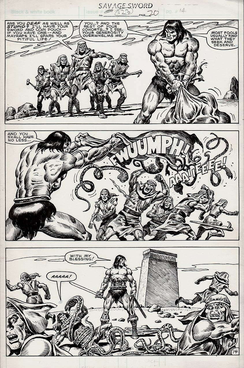 Savage Sword of Conan #123 p 14 (1985)