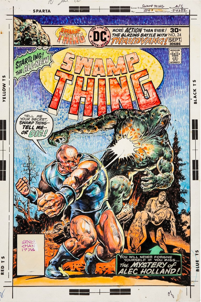 Swamp Thing #24 Cover (LAST ISSUE) 1976