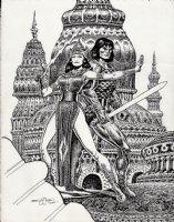 Conan / Ninja Babe Pinup (2005) Comic Art