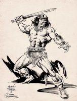 Conan Pinup (1982) Comic Art
