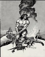 Conan / Wash-Tone Beheading Battle Pinup (2007) Comic Art