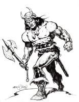 Conan Holding Axe Pinup (2007) Comic Art