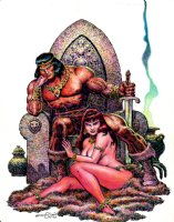 Conan / Babe Hand Colored Pinup (2007) Comic Art