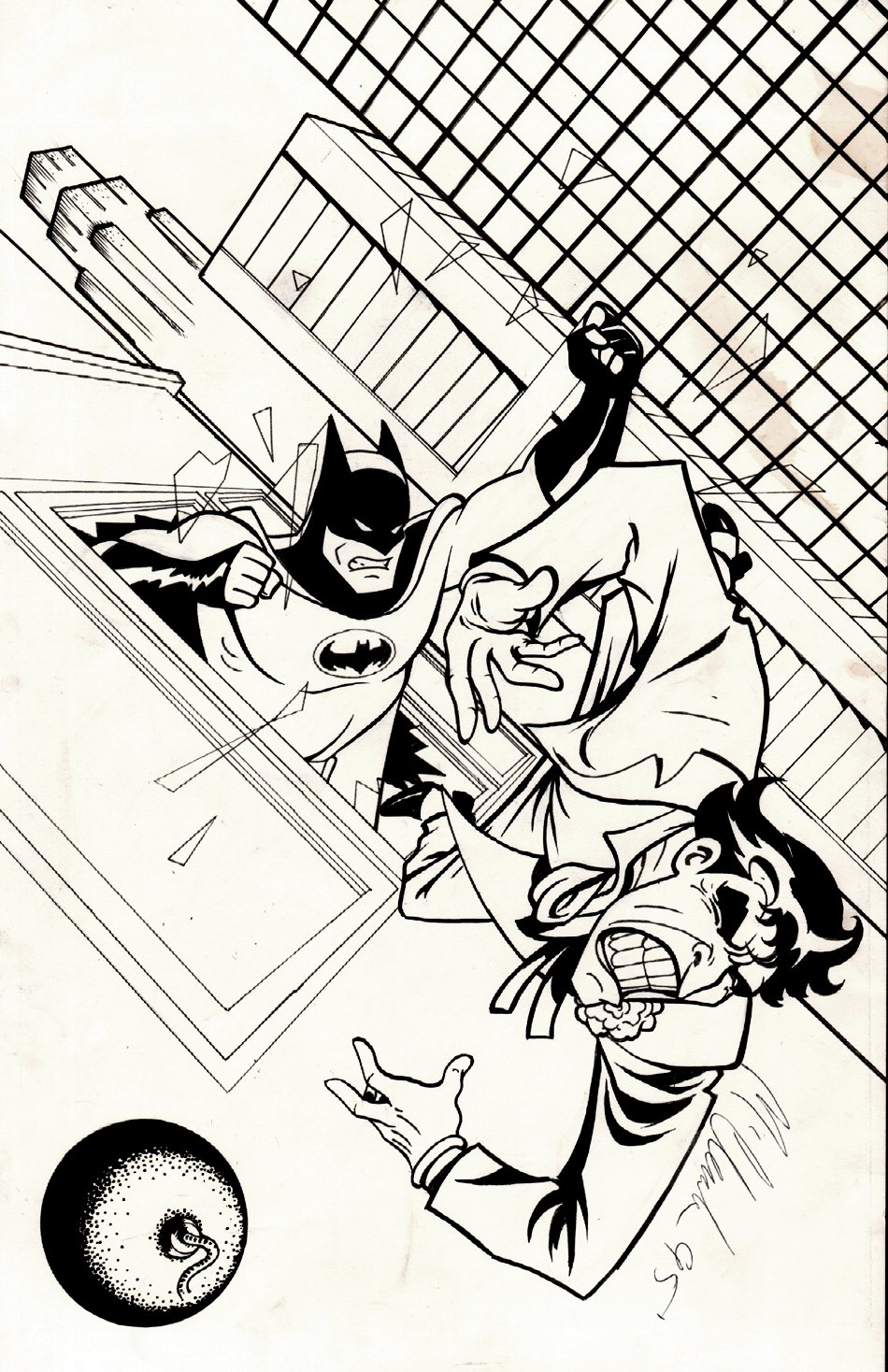 Batman / Joker Pinup (Not Sure If Published Or Not?) 1995