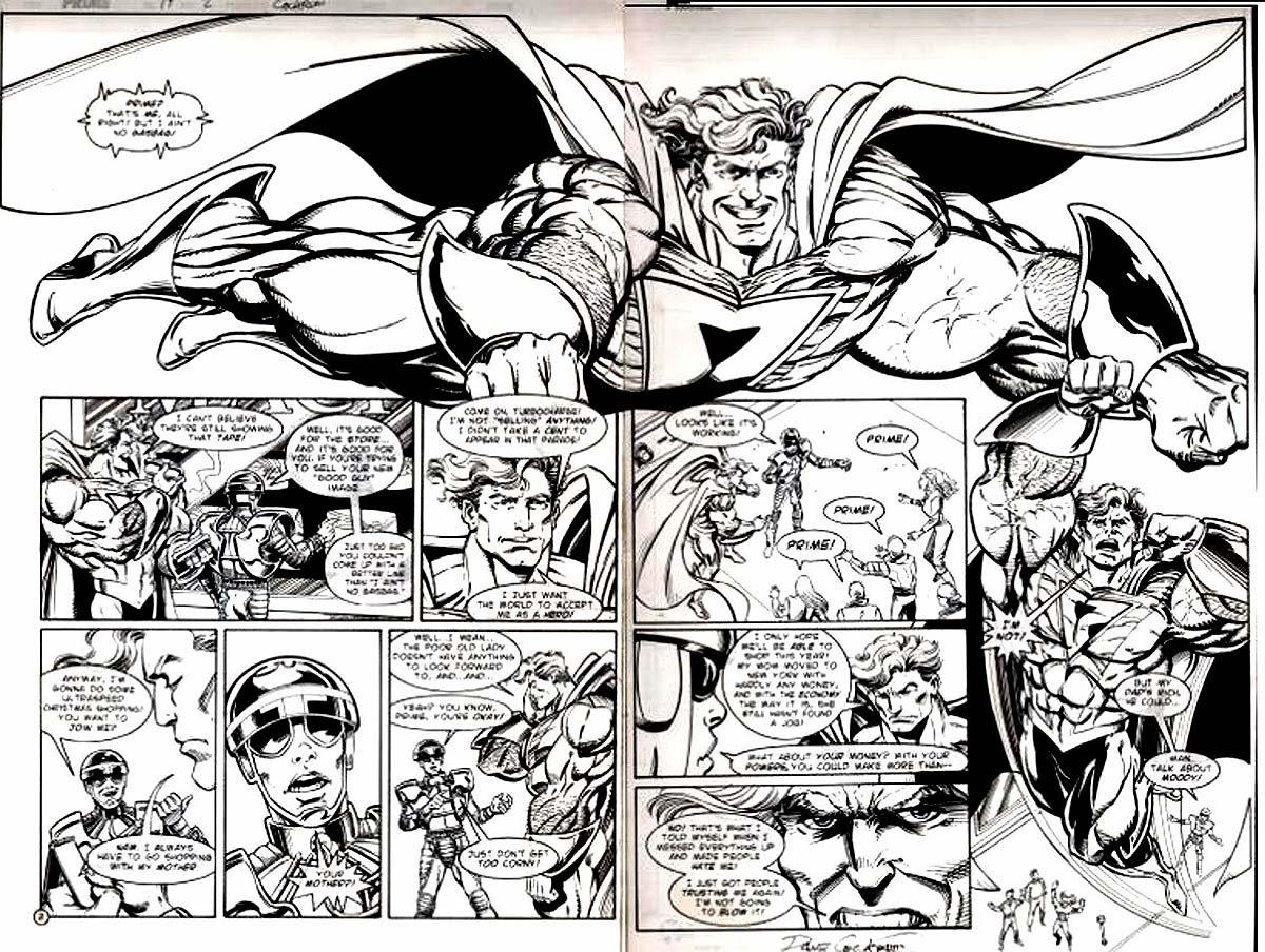 Prime #10 p 2-3 Double Page Spread (1995)