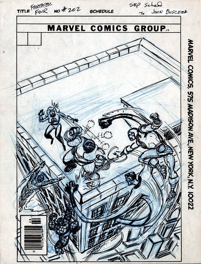 Fantastic Four #202 Cover Prelim (1978)