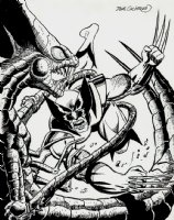 Wolverine VS The Brood Pinup  Comic Art