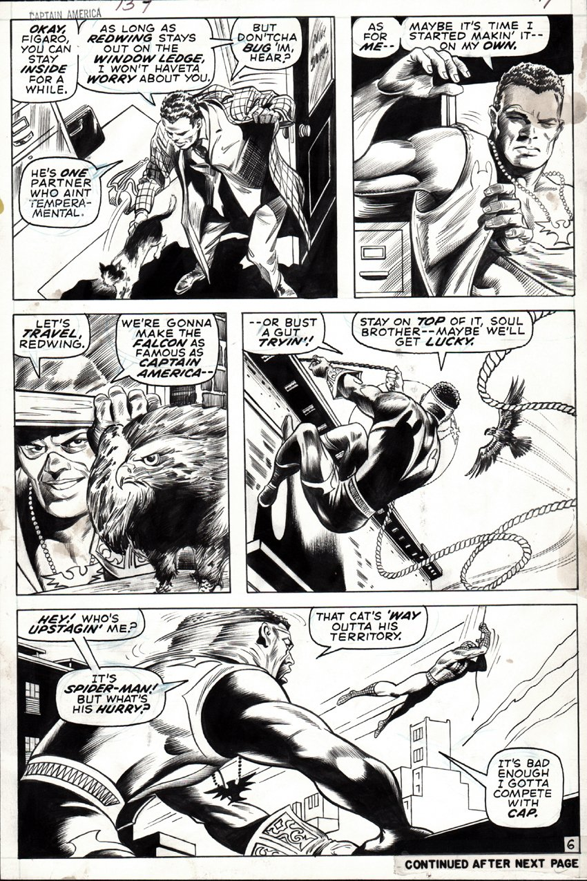 Captain America #137 p 6 (Everett Inks, Spider-Man Appearance) 1970