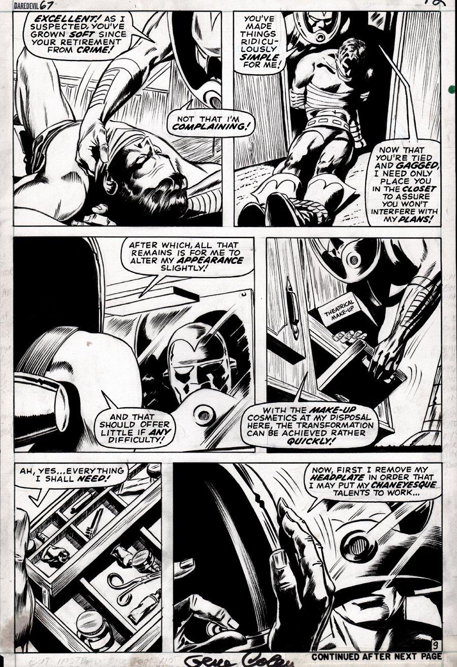 Daredevil #67 p 9 (STILT-MAN!) 1970