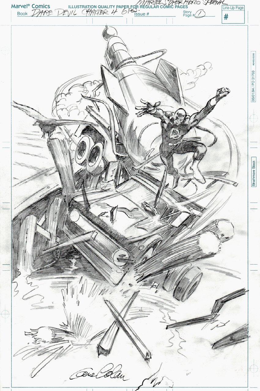 Daredevil Penciled Chapter 4 p 1 Splash Page