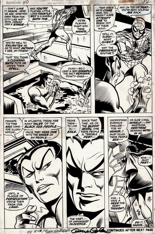 Sub-Mariner #40 p 9 (SPIDER-MAN!) 1971