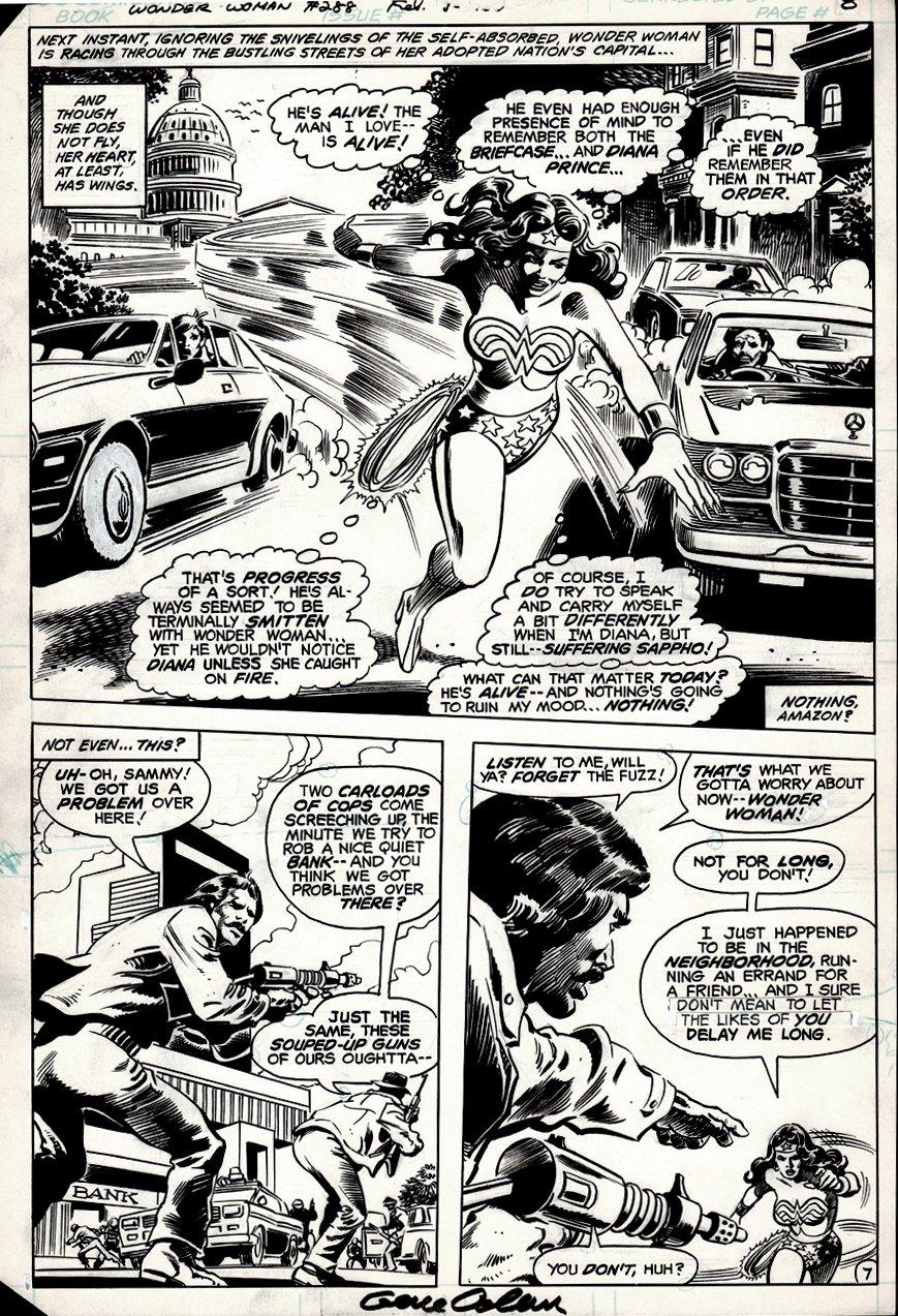 Wonder Woman #288 p 7 (Semi-Splash) 1981