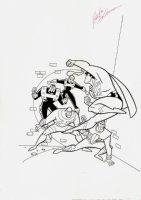 Superman Book Cover Comic Art