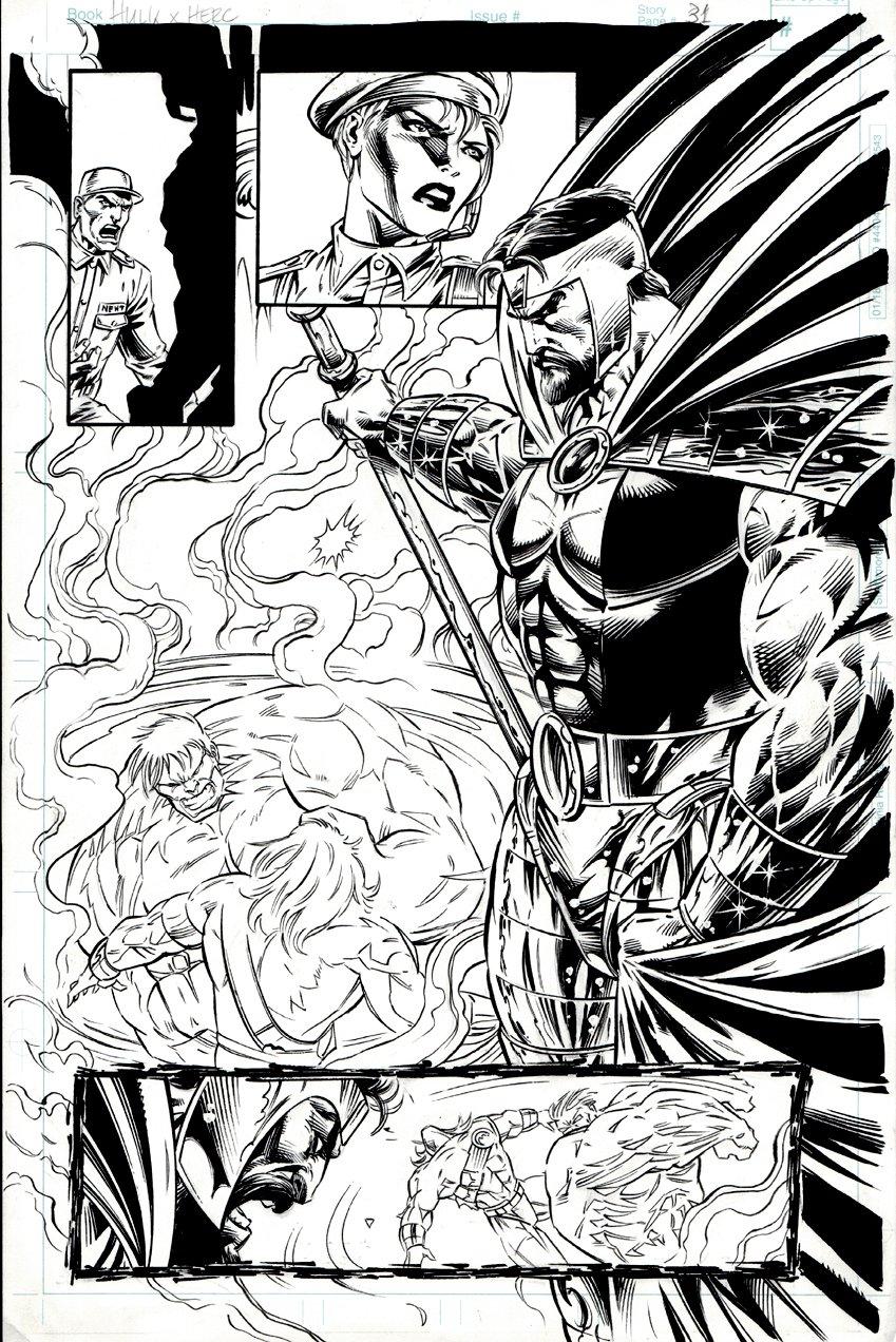 Incredible Hulk: Hercules Unleashed #1 p 31 SPLASH (1996)