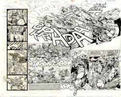 THOR Issue 496 Page 2-3 Double Spread Splash (1996) Comic Art